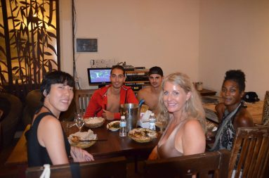 Dinner after boat trip in the Monsun