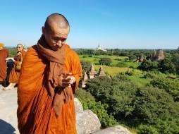 On top ov a pagoda in Bagan