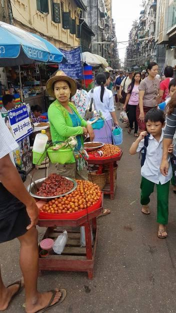 street vendor in Yangon