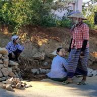 Roadwork in Bagan