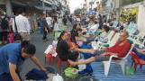 massage in the street, sunday night market CM