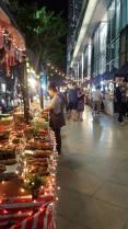 Food stalls outside Maya Mall, Nimman