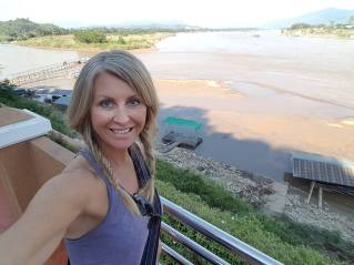 Standing in Thailand, Behind me is Burma and on the right across the Mekong is Laos