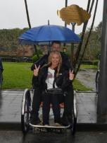 Cyclo tour in the rain