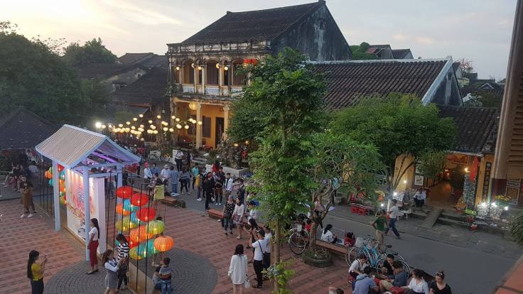 Hoian old town, decorated for the Tet holliday