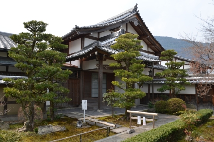 one of the many temples in the gardens of Kyoto
